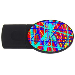Colorful Pattern Usb Flash Drive Oval (2 Gb)  by Valentinaart
