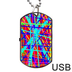 Colorful Pattern Dog Tag Usb Flash (two Sides)  by Valentinaart