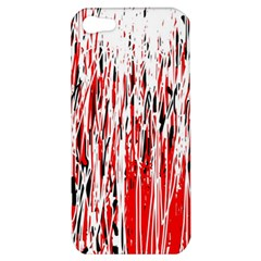 Red, Black And White Pattern Apple Iphone 5 Hardshell Case by Valentinaart