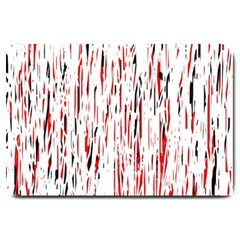 Red, black and white pattern Large Doormat