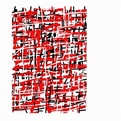 Red, White And Black Pattern Large Garden Flag (two Sides) by Valentinaart
