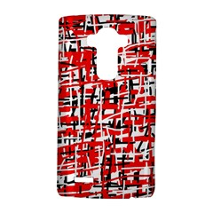 Red, white and black pattern LG G4 Hardshell Case by Valentinaart