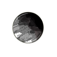 Black And Gray Pattern Hat Clip Ball Marker (10 Pack) by Valentinaart