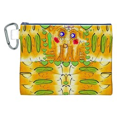 Mister Jellyfish The Octopus With Friend Canvas Cosmetic Bag (xxl) by pepitasart