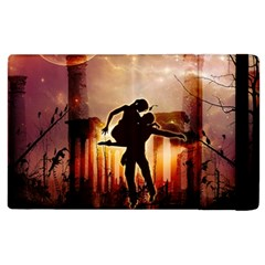 Dancing In The Night With Moon Nd Stars Apple iPad 2 Flip Case by FantasyWorld7