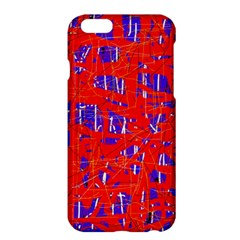 Blue And Red Pattern Apple Iphone 6 Plus/6s Plus Hardshell Case by Valentinaart