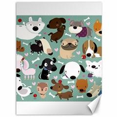 Dog Pattern Canvas 36  X 48   by Mjdaluz