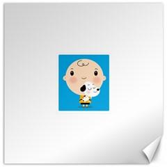 Snoopy Canvas 16  X 16   by Mjdaluz