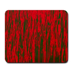 Red And Green Pattern Large Mousepads by Valentinaart