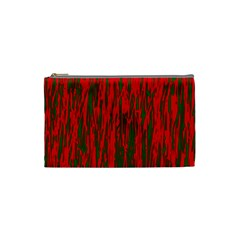 Red And Green Pattern Cosmetic Bag (small)  by Valentinaart