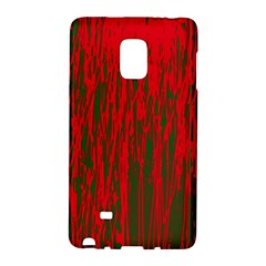 Red And Green Pattern Galaxy Note Edge by Valentinaart