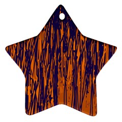 Blue And Orange Pattern Star Ornament (two Sides)  by Valentinaart