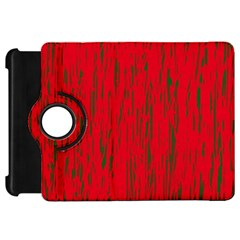 Decorative Red Pattern Kindle Fire Hd Flip 360 Case by Valentinaart