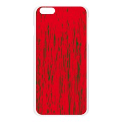 Decorative red pattern Apple Seamless iPhone 6 Plus/6S Plus Case (Transparent) by Valentinaart
