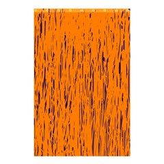 Orange Pattern Shower Curtain 48  X 72  (small)  by Valentinaart