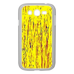 Yellow Pattern Samsung Galaxy Grand Duos I9082 Case (white) by Valentinaart