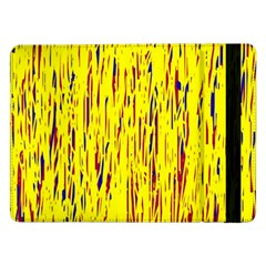 Yellow Pattern Samsung Galaxy Tab Pro 12 2  Flip Case by Valentinaart