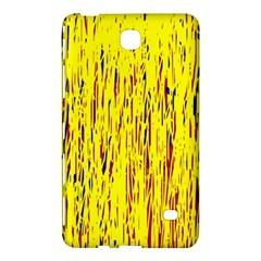 Yellow Pattern Samsung Galaxy Tab 4 (8 ) Hardshell Case  by Valentinaart