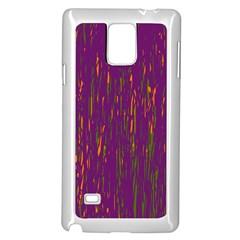 Purple Pattern Samsung Galaxy Note 4 Case (white) by Valentinaart