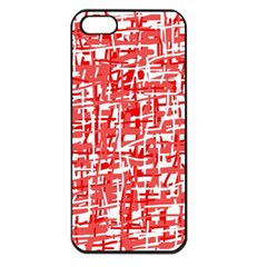 Red Decorative Pattern Apple Iphone 5 Seamless Case (black) by Valentinaart