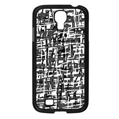 Gray Pattern Samsung Galaxy S4 I9500/ I9505 Case (black) by Valentinaart
