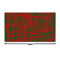 Green And Red Pattern Business Card Holders by Valentinaart