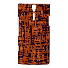 Blue and orange decorative pattern Sony Xperia S