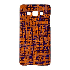 Blue And Orange Decorative Pattern Samsung Galaxy A5 Hardshell Case  by Valentinaart