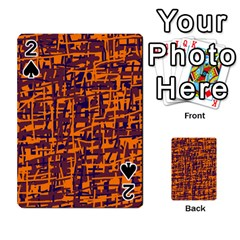 Orange And Blue Pattern Playing Cards 54 Designs  by Valentinaart