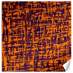 Orange And Blue Pattern Canvas 20  X 20   by Valentinaart