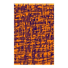 Orange And Blue Pattern Shower Curtain 48  X 72  (small)  by Valentinaart