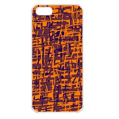 Orange And Blue Pattern Apple Iphone 5 Seamless Case (white) by Valentinaart