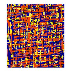 Orange, Blue And Yellow Pattern Shower Curtain 66  X 72  (large)  by Valentinaart