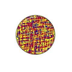 Red, Yellow And Blue Pattern Hat Clip Ball Marker (4 Pack) by Valentinaart