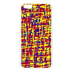 Red, yellow and blue pattern Apple Seamless iPhone 6 Plus/6S Plus Case (Transparent) by Valentinaart