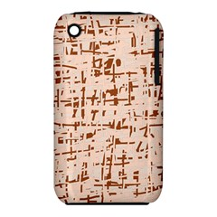 Brown Elegant Pattern Apple Iphone 3g/3gs Hardshell Case (pc+silicone) by Valentinaart