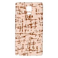 Brown elegant pattern Galaxy Note 4 Back Case by Valentinaart