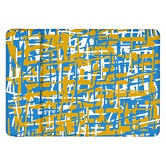 Blue And Yellow Elegant Pattern Samsung Galaxy Tab 8 9  P7300 Flip Case by Valentinaart