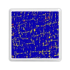 Blue Pattern Memory Card Reader (square)  by Valentinaart