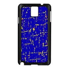 Blue Pattern Samsung Galaxy Note 3 N9005 Case (black) by Valentinaart