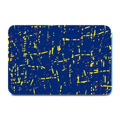 Deep blue and yellow pattern Plate Mats