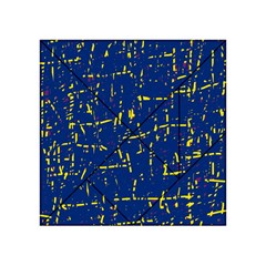 Deep blue and yellow pattern Acrylic Tangram Puzzle (4  x 4 ) by Valentinaart