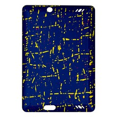 Deep Blue And Yellow Pattern Amazon Kindle Fire Hd (2013) Hardshell Case by Valentinaart