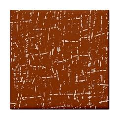 Brown Elelgant Pattern Face Towel by Valentinaart