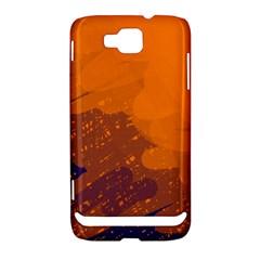 Orange and blue artistic pattern Samsung Ativ S i8750 Hardshell Case by Valentinaart