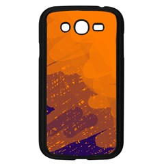 Orange And Blue Artistic Pattern Samsung Galaxy Grand Duos I9082 Case (black) by Valentinaart