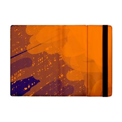 Orange And Blue Artistic Pattern Ipad Mini 2 Flip Cases by Valentinaart