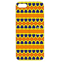 Hearts And Rhombus Pattern                                                                                         			apple Iphone 5 Hardshell Case With Stand by LalyLauraFLM