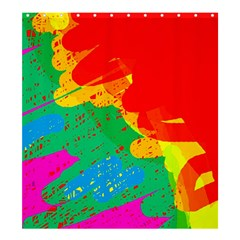 Colorful Abstract Design Shower Curtain 66  X 72  (large)  by Valentinaart