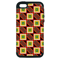 Squares And Rectangles Pattern                                                                                         			apple Iphone 5 Hardshell Case (pc+silicone) by LalyLauraFLM
